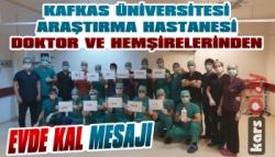 Araştırma Hastanesinden Evde Kalın Mesajı