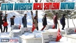 Atatürk Üniversitesi Hocalı Şehitlerini Unutmadı