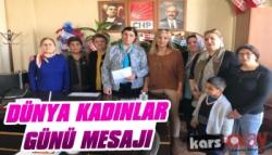 CHP Kars İl Başkanlığının 8 Mart Mesajı