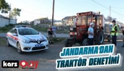 Jandarma'dan Kars'ta Traktör Denetimi
