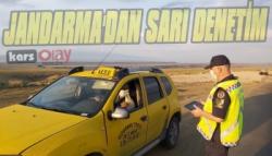 Jandarma Kars'ta Ticari Taksileri Denetledi