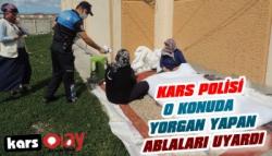 Kars Polisi Hırsızlığa Karşı Uyardı