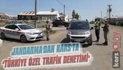 Kars'ta Jandarma'dan 'Türkiye Özel Trafik Denetimi'