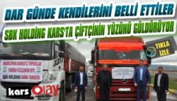 SBK Holding Kars'ta Çiftçinin Yüzünü Güldürdü