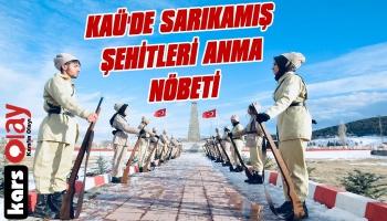 Kafkas Üniversitesi Öğrencilerinden Sarıkamış Şehitleri'ni Anma Nöbeti