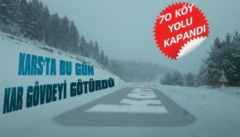 Kars'ta 70 Köy Yolu Ulaşıma Kapandı