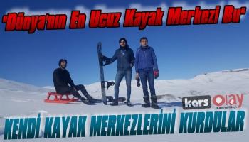 Karslı Gençler Kendi Kayak Merkezlerini Kurdu